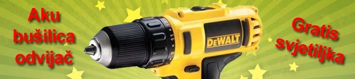 Dewalt DCD710S2FZ Aku bušilica odvijač sa svjetiljkom i dvije baterije 10,8V 1,5Ah XR Li-Ion